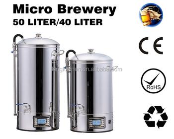 Pembuatan Bir Mikro Pemasok Produsen Profesional Guten Peralatan Dapur 50 Liter Mash Tun