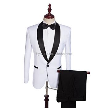 a996111bab38 Hd070 (chaqueta + Pantalones) Personalizado Negro Solapa Esmoquin De Novio  Blanco Para Hombres Últimos Diseños De Pantalón Y Abrigo De Los Hombres ...