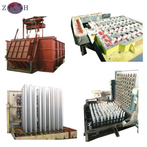 Hot top aluminum billet casting machine with billet casting die