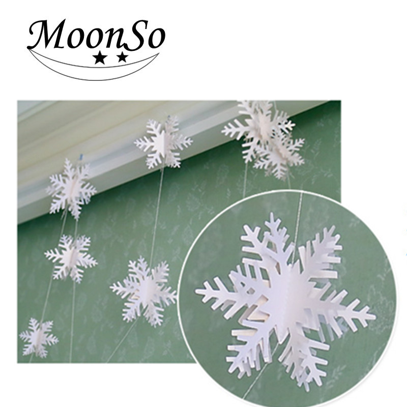 <strong>christmas</strong> snowflake 3D flower cardboard snowflake <strong>christmas</strong> ornaments Moonso A4659