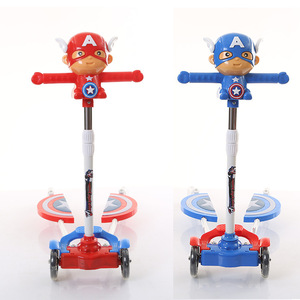 new model Captain America cheap child kids dirt scooters for children