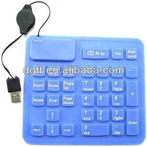waterproof custom 18 keys USB silicon numeric keypad