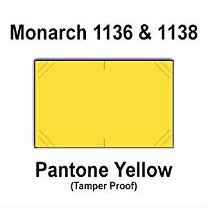 112,000 Monarch 1136/1138 compatible Pantone Yellow General Purpose Labels to fit the Monarch 1136, Monarch 1138 Price Guns. Full Case + includes 8 ink rollers.