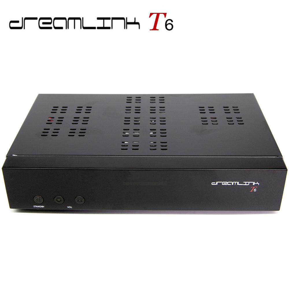 New promotion Twin tuner Dreamlink <strong>HD</strong> <strong>FTA</strong> T6 <strong>satellite</strong> <strong>receiver</strong> built in Kodi and wifi