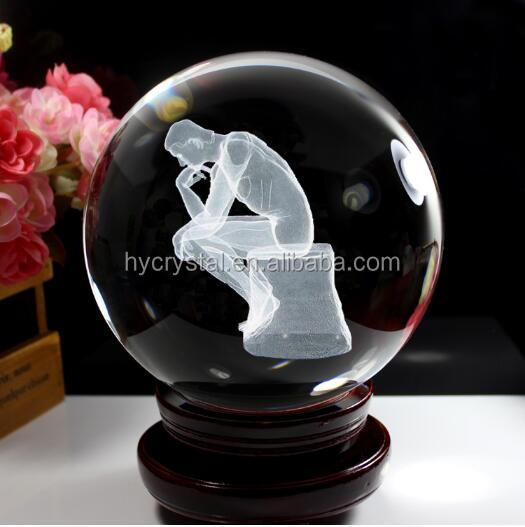 clear wholesale man engraving 3d laser crystal glass globe ball for cheap sale