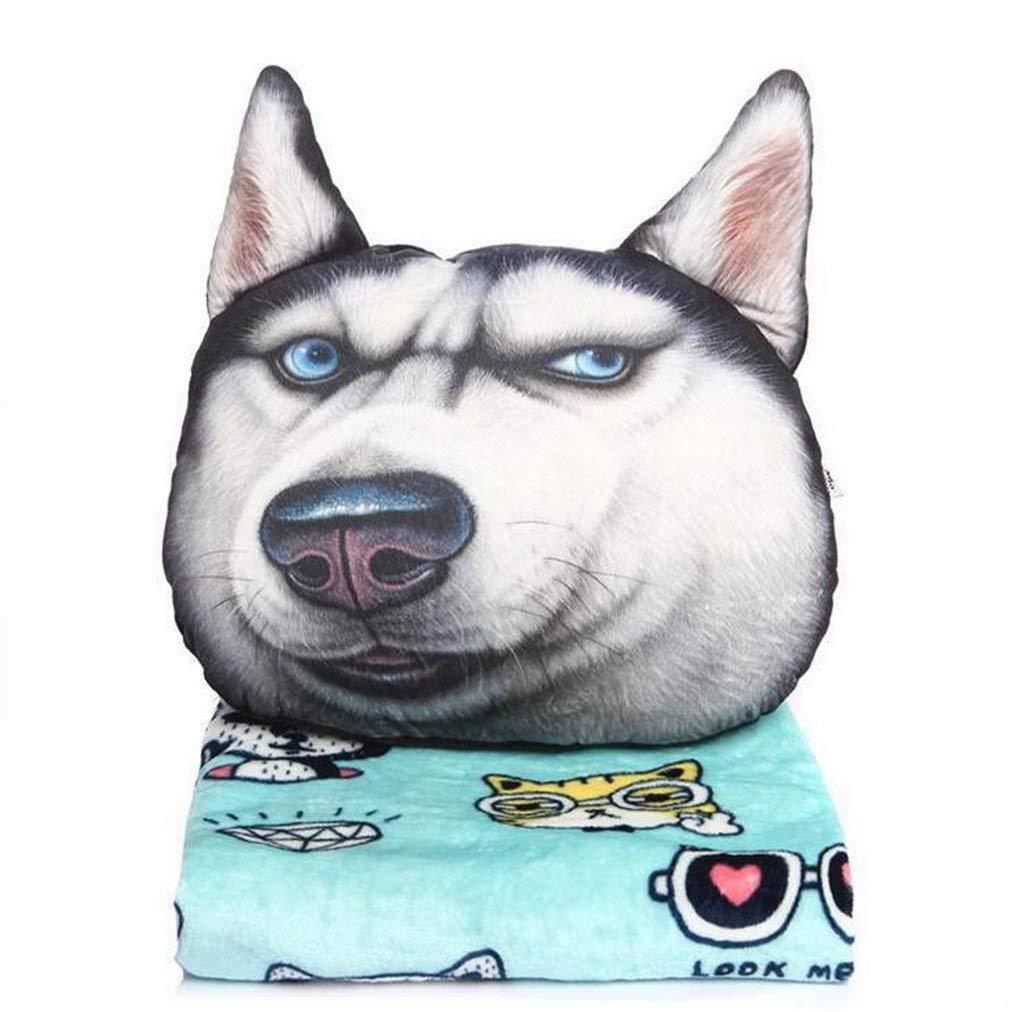 Ecloud Shop Cartoon Back Cushion Cartoon Dog Chair Pad Cute Plush Waist Seat Pillow with Buckle Memory Foam Seat Back Cushion for Home Office Patio Dining Chair