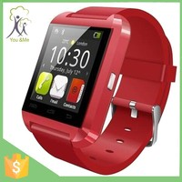 2015 Cheapest Price Android Smart Watch Phone U8 Bluetooth Watch For Iphone With Black White Red