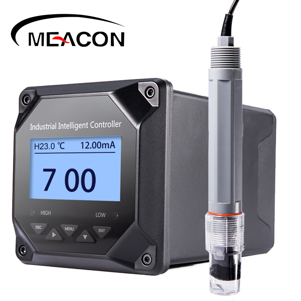 2 relays 24V or 220V 4-20mA digital output control dosing pump waste water online orp ph <strong>meter</strong>