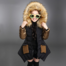 Fashion parkas girl clothing brand kid clothes winter multicolor children outerwear coats princess girls jacket children's wear