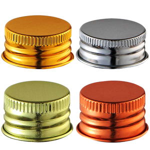 free samples 28mm bottle screw caps silver aluminum cap