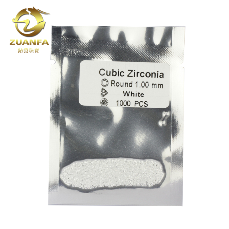 wholesale price white cz stone round brilliant cut 1.0mm cubic <strong>zirconia</strong>