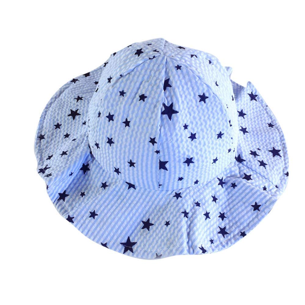 c8ea015a6ed Get Quotations · Suma-ma Summer Stars Hats Caps for Boys Girls Baby  Children (Blue)
