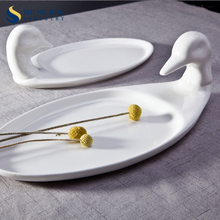 "11 ""13"" 16 ""18"" Ovale Dishe D'oca Bianco <span class=keywords><strong>Anatra</strong></span> In Ceramica A Forma di Piatto"