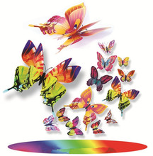 Multicolor Plastic Artificial Realistic Simulated Butterfly for Garden Yard Outdoor and Indoor bedroom Decorations