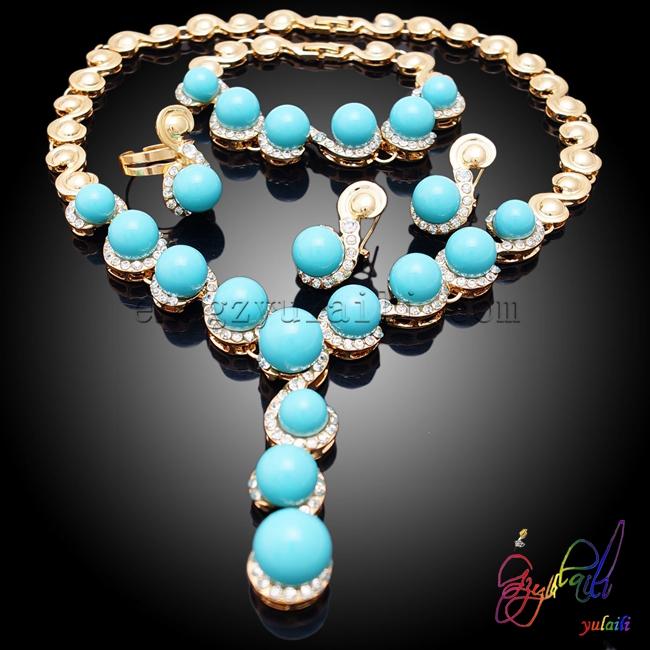 Pakistani gold jewelry sets Cost-effective jewelry set Sharp color jewelry sets фото