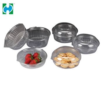 Food grade PET disposable plastic fruit container/Salad Bowl low price