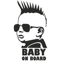 Myway Customized Design Fashion Baby Cute Decoration decal car body Sticker for car