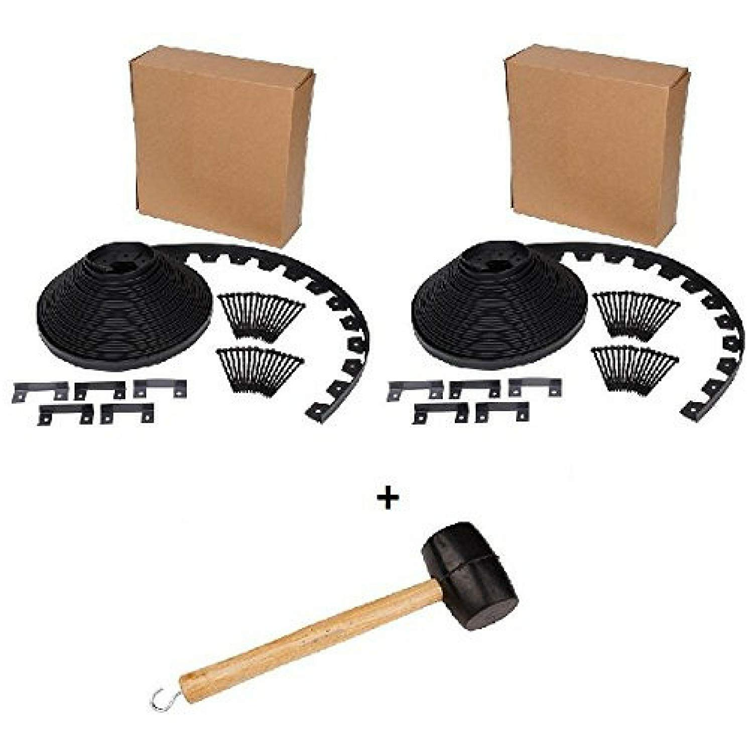 Dimex EasyFlex No-Dig Landscape Edging Project Kit, 100 ft. (PACK OF 2 KIT) with Rubber Mallet