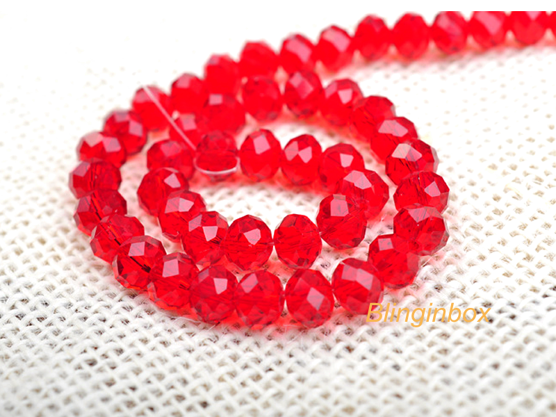 Free samples! crystal strands rondelle faceted glass beads for making jewelry