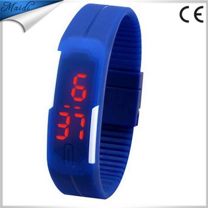 Hot Fashion Men Candy Silicone Strap Touch Square Dial Digital Bracelet LED Daily Waterproof Sport Wrist Watch Women Kids LMW-1