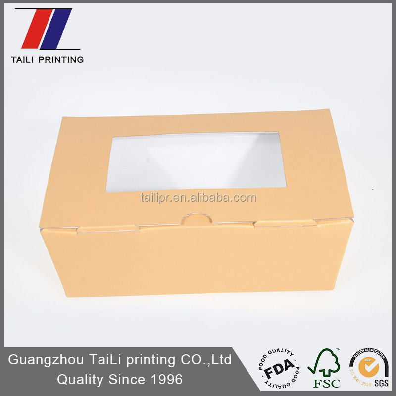 Custom F-Flute corrugated food box india