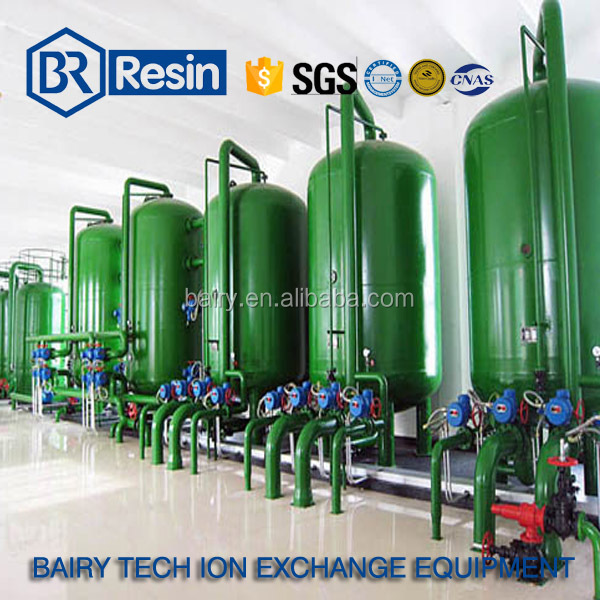 industrial water treatment solution ion exchange resin column