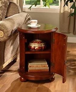 Birch Drum Table This Decorative Accent Features