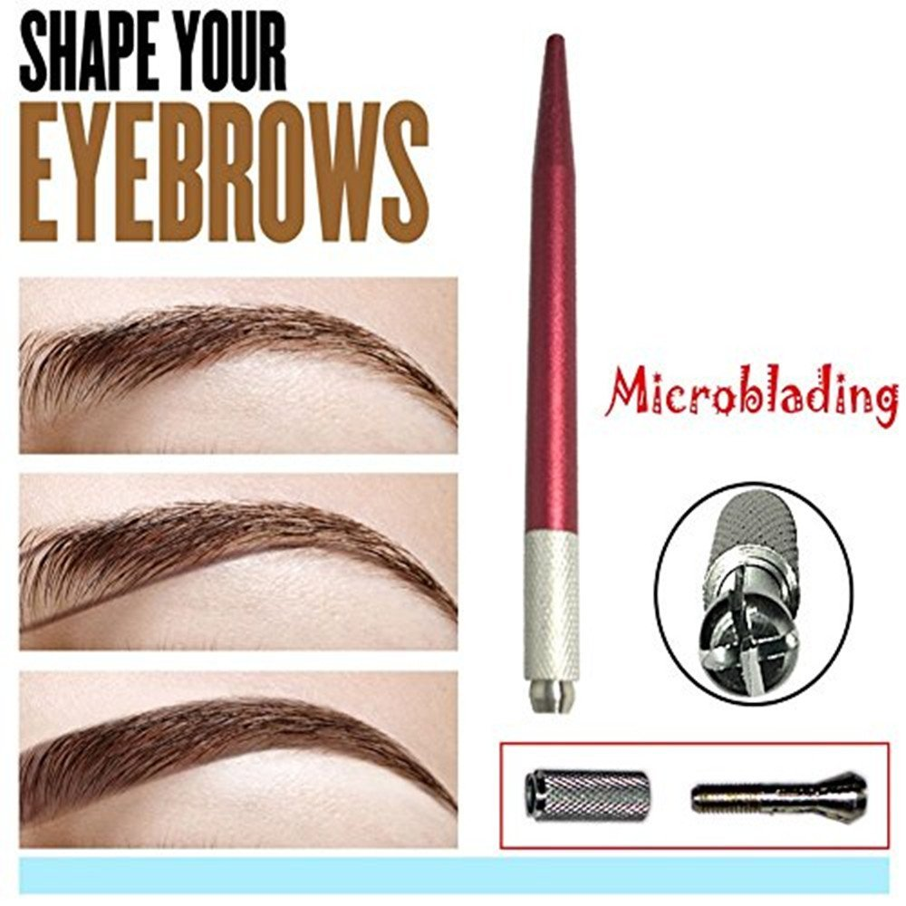 Pinkiou Handle For Eyebrows Positioning Manual Tattoo Microblading Pen Professional permanent makeup machine