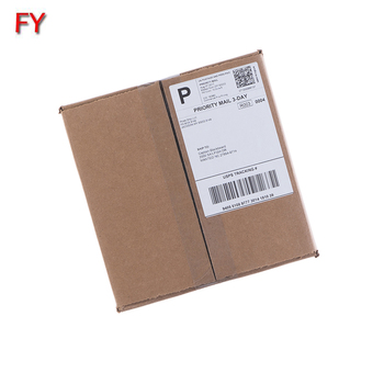 Permanent adhesive laser printer half sheet shipping label