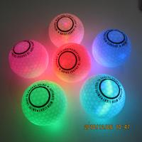 light activated LED luminous golf ball for night golf continuous play