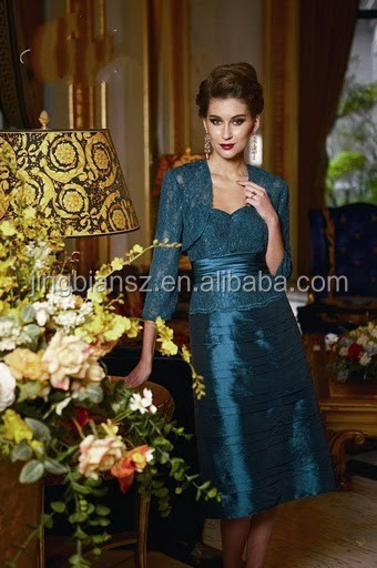 lace jacket formal evening dress, 2014 most popular design mother dresses #OE131