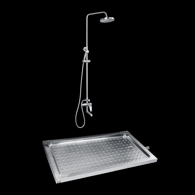1200 X 700 Stainless Steel Large Shower Trays Sink Deep Shower Pans ...