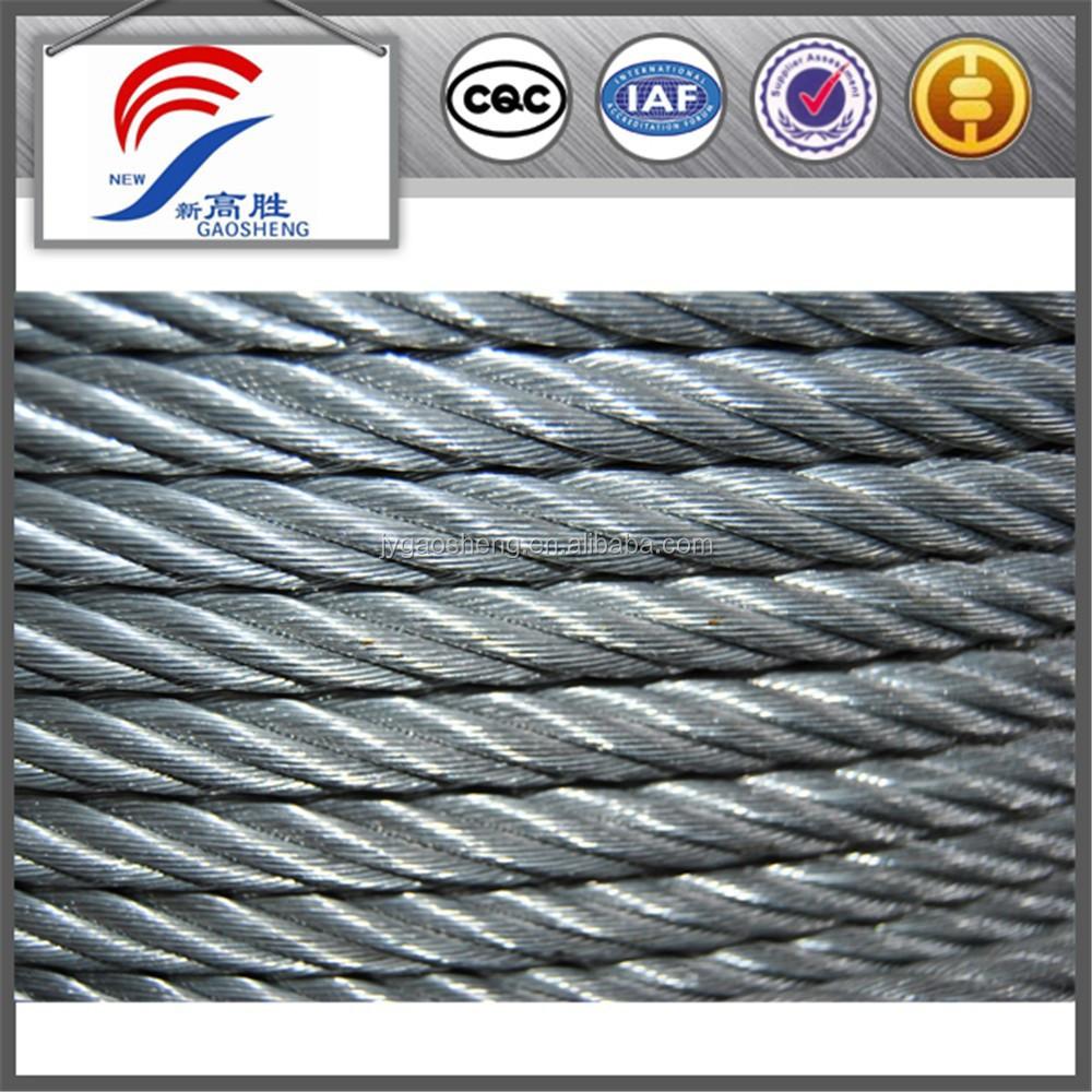 6x19+iwrc 14mm Galvanized Steel Wire Rope - Buy 6x19+iwrc 14mm ...