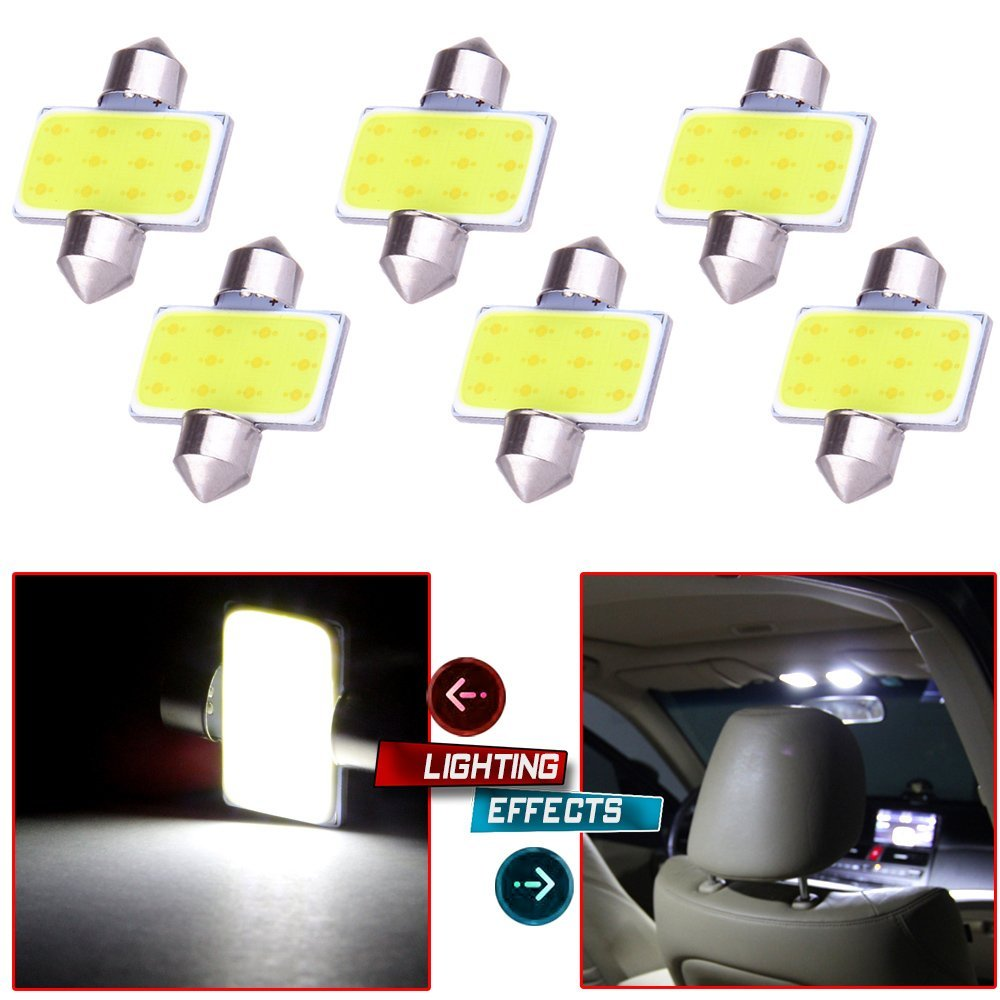 LEDIN 2x DE3175 CREE LED Stop Light 31mm Festoon Bulb DE3022 3022 White 5W