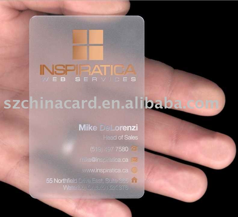 Carte De Visite En Plastique Transparent