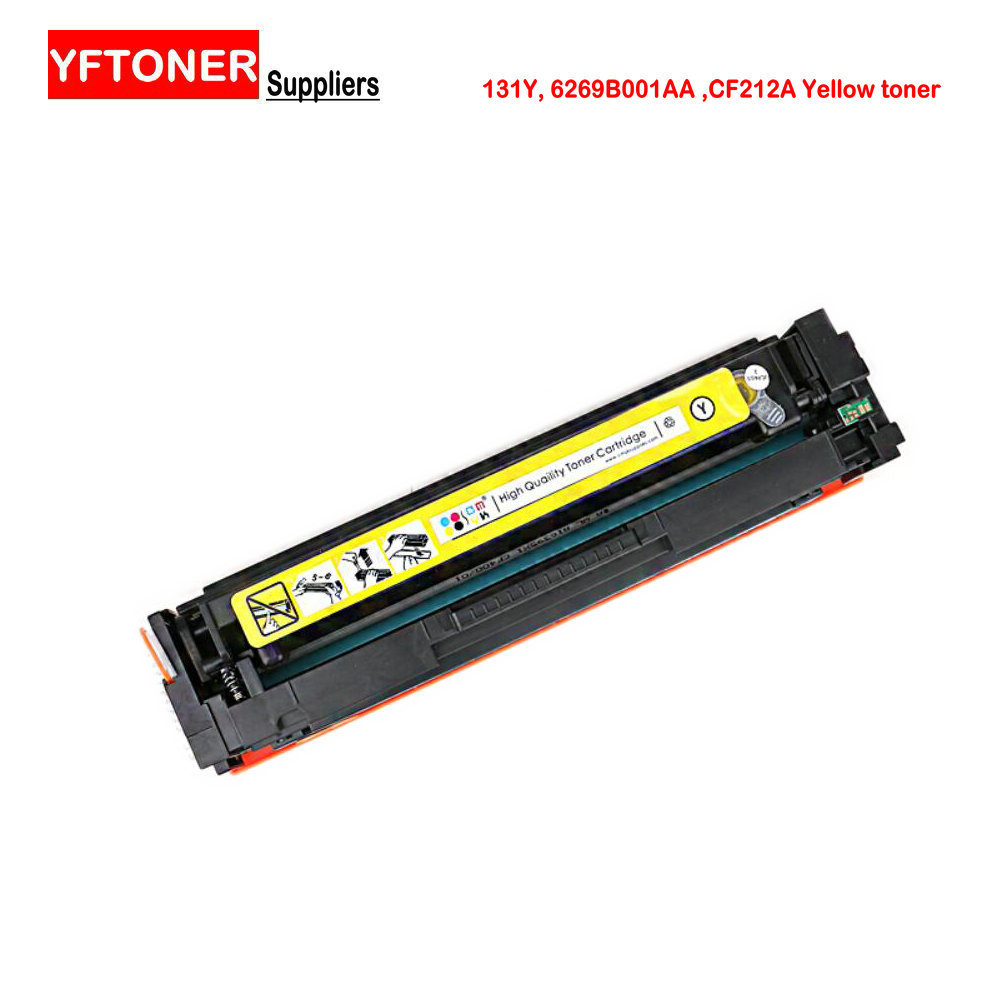 YFTONER Yellow Toner for Canon Cartridge 131Y 6269B001 6269B001AA, For HP CF212A color printer toner cartridge