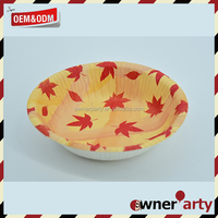 Custom Printed 18cm Round Disposable Paper Soup Bowl