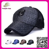 promotional summer paper straw tucker cap with mesh guangzhou baseball cap factory