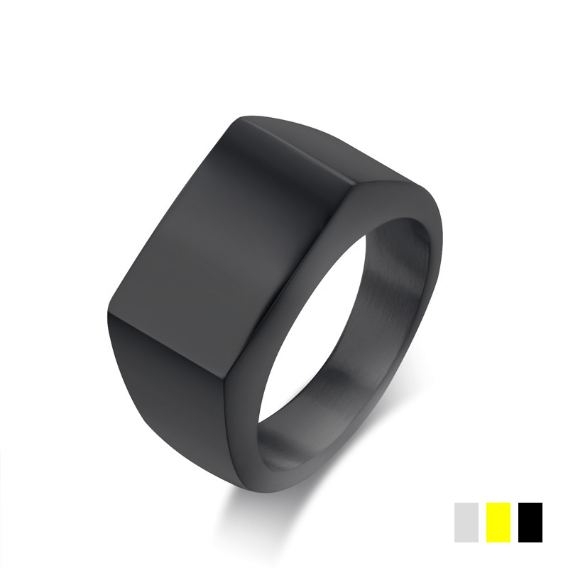 Wholesale New Design Punk Black Stainless Steel Geometric <strong>Rings</strong> For Men