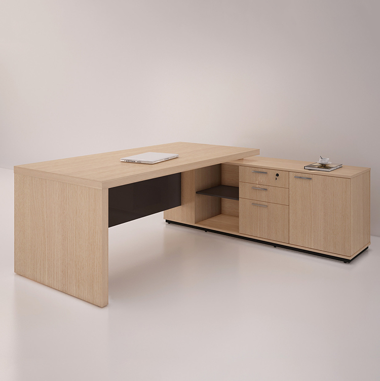 Panel Wood Style Office Table Modern Executive/ Manager Desk