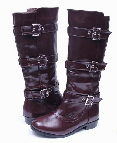 a5f99cfe7f5 Buy High quality brand women boots designer womens boot Flat ladies boots  Famous brand name woman shoes brown black leather boots in Cheap Price on  ...