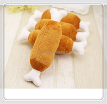 Double bone chicken leg plush toys voice connotation BB pet dog cat toy products