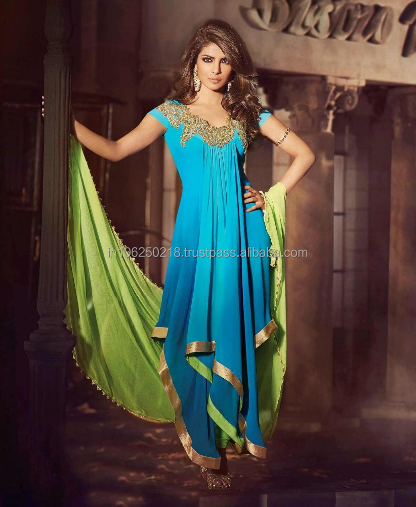 Indian Bollywood Actress Latest Pink Suit Designs Umbrella Readymade ...