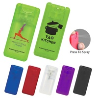 Promotional personal care travel flat rectangle pocket antibacterial refillable private label plastic mini hand sanitizer spray