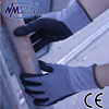 NMSafety 15 gauge Black Foam Nitrile Rubber Dipping Palm Safety Gloves Work