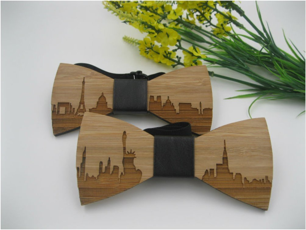 d41c858313 Get Quotations · TripleRValue Wooden Bow Tie