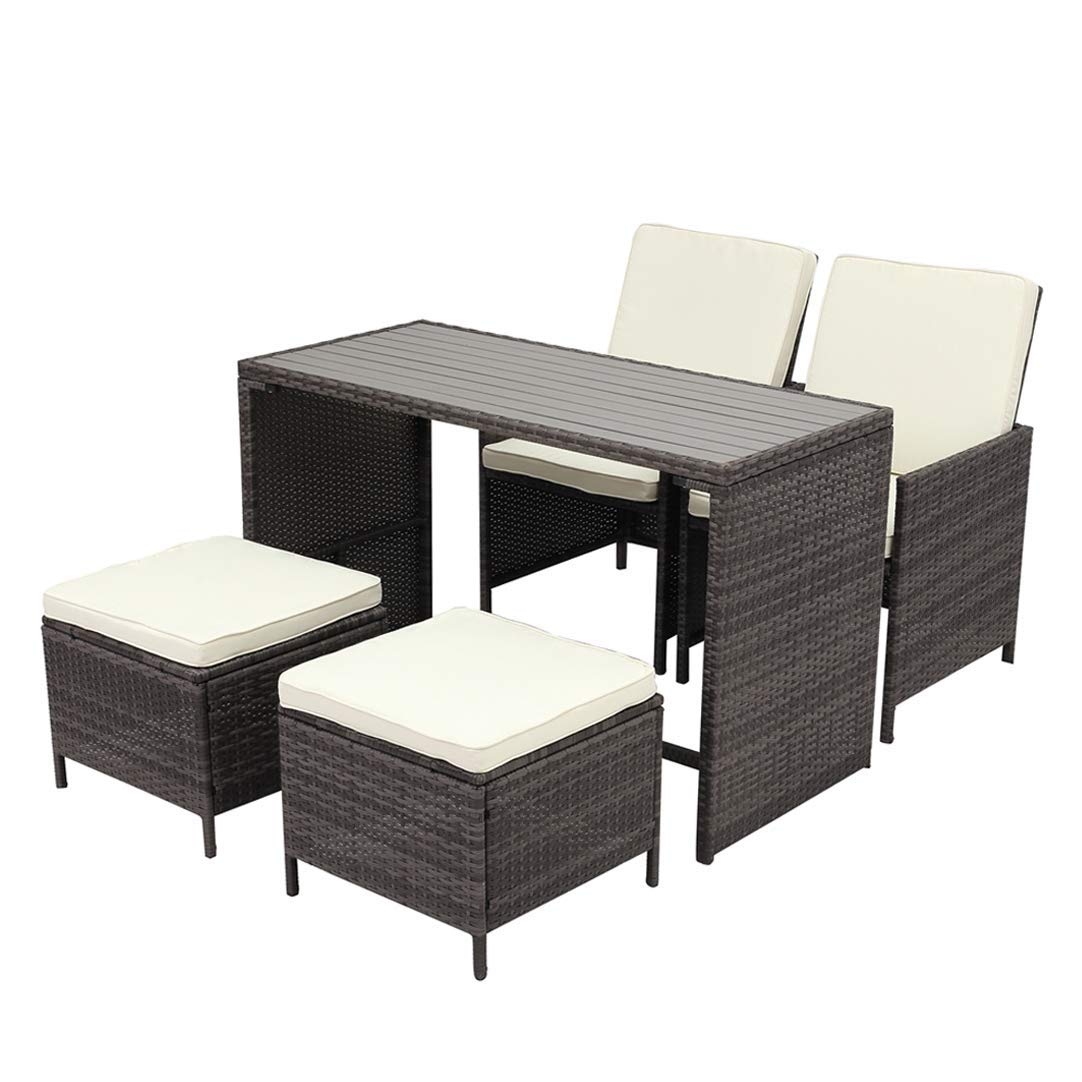 Get Quotations Wisteria Lane Outdoor Conversation Set Patio Furniture 5pcs Sectional Sofa Wicker Gl Tale Chair