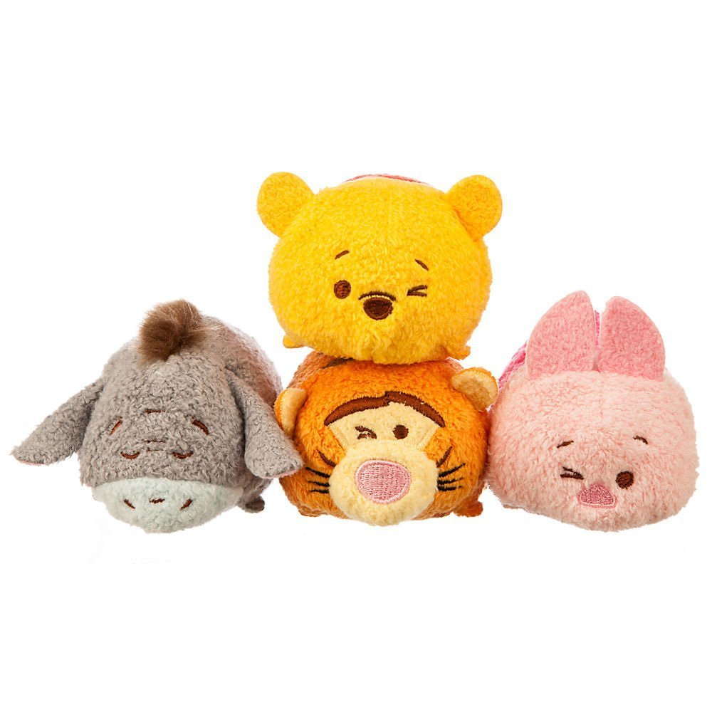 Disney Winnie the Pooh and Pals Tsum Tsum Winking Plush - Mini - 3 1/2 Tigger, Piglet, Pooh, and Eeyore