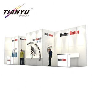 Elegant aluminum fair assembling without tool unique craft booth display