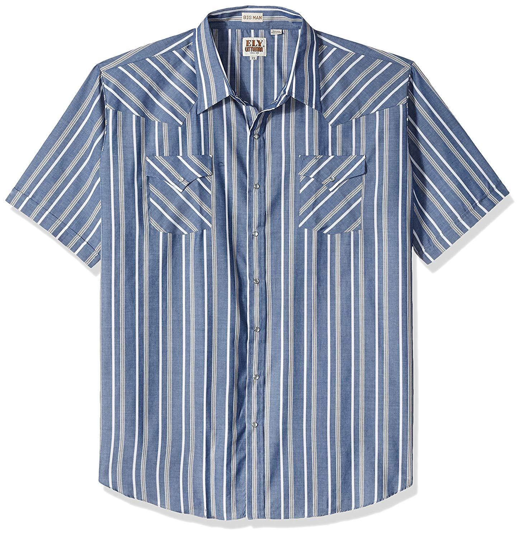 Ely /& Walker Mens Short Sleeve Stripe Western Shirt